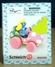 Smurfs Smurfette Pink Mushroom Car Super Smurf Vintage Figure Toy Lot PVC 40265