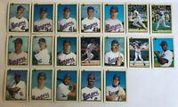 1990 TEXAS RANGERS Bowman COMPLETE Baseball Card Team Set 19 Cards RYAN GONZALEZ
