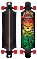 SANTA CRUZ LONGBOARD RASTA LION GOD DROP THROUGH CRUZER Skateboard thru