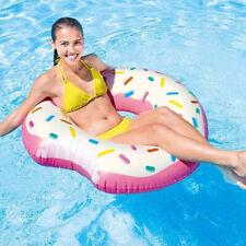 Salvagente Ciambella Gonfiabile Stampa Donuts Mangiucchiata 107cm Mare Piscina