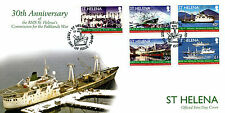 St Helena 2012 FDC RMS St Helena Commission Falklands War 5v Cover Ships Stamps