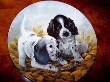 "1989 Bradford Exchange Field Puppies ""The English Setters "" by Lynn Kaatz"