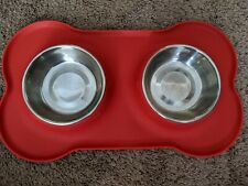 Pet Food Mat for Dog Silicone Waterproof Placemat Dish Bowl Clean Feeding-SM