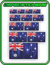 WAVING AUSTRALIAN FLAG STICKER SHEET SCRAPBOOK SCHOOL PROJECT WINDOW AUSSIE