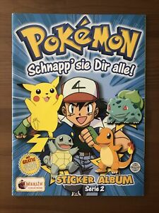 Pokemon - Merlin Sticker Album Serie 2 (unbeklebt) Mit 14 Stickern - WIE NEU!