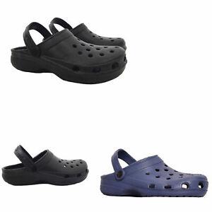 Mens Summer Casual Flats Holiday Clog Sandal Hospital Comfy Work Beach Shoes NEW