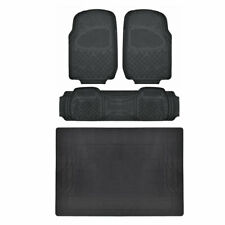 Black Floor Mats w/ Liner All Weather HD Durable Trimmable MOTORTREND