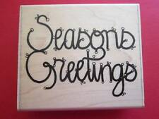 D.O.T.S-Rubber Stamp- Seasons Greetings