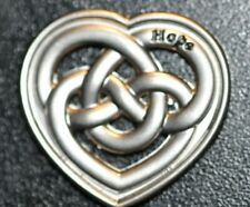 HOPE KNOTTED HEART PENDANT!   CC376XTT