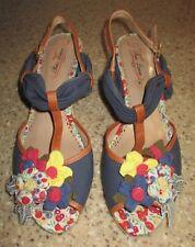 b73e6add554b POETIC LICENSE Hippie Goddess Espadrille Wedge Sandals US Size 9M NICE!!   140