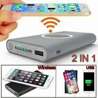 10000mah Wireless Power Bank Pack Backup Battery Charger For All USB Phone