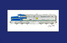 """Delaware & Hudson PA4 11""""x17"""" Matted Print Andy Fletcher signed"""