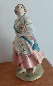 Vintage Spanish Nadal Figurine of Lady in Traditional Costume