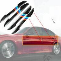 4pcs Auto Carbon Fiber Side Door Edge Guard Protection Stickers Set Kit For BMW