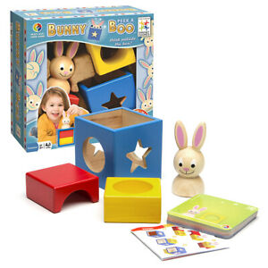 Bunny Peek a Boo Problem Solving, Logic, Thinking / Puzzle Wooden (Smart Game)