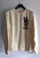 TSPTR Peace Print Off white Sweatshirt Size L RRP £85
