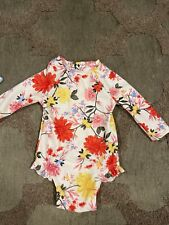GAP OLD NAVY Printed Zip-Front Rashguard Swimsuit for Baby Girls 3-6month