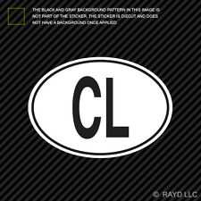 CL Sri Lanka Country Code Oval Sticker Decal Self Adhesive Sri Lankan euro