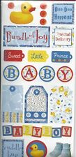 Creative Imaginations BLUE DUCKIE Baby Boy Scrapbook Stickers