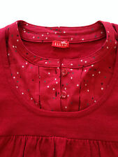 Elle Red Long Sleeve Knitwear with Shirt like Collar - Size 10 - BNWOT