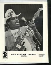 CHICAGO BLUES PUBLICITY PHOTO: MAGIC SLIM 8x10 black & white 1984 Rooster Blues
