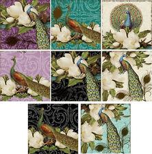 Vintage inspired Peacock Bridal Shower invitations set of 8