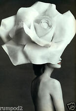 Vogue like/Poster/Vintage Art deco reproduction /Woman in a White Hat-13x19 in.
