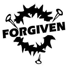Forgiven Window sticker Truck Car RV ATV Spiritual Fun Outdoor Vinyl Decal