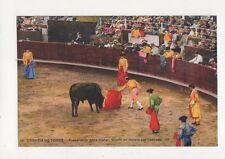 Corrida de Toros Preparando Para Matar Spain Vintage Postcard 461a