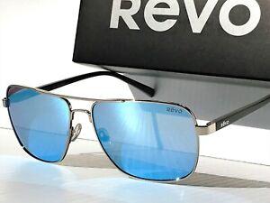 NEW REVO PEAK Chrome AVIATOR Squared POLARIZED Blue Water Sunglass 5022 03 BL