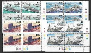 PITCAIRN ISLANDS SG426/9 1993 ROYAL NAVY BLOK OF 4 FINE USED
