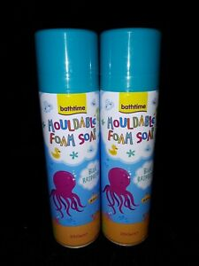 Blue Raspberry Kids Mouldable Foam Soap x 2, Make Bath times Fun!!