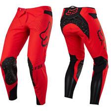 Fox Racing Flexair Motocross MX Pantaloni - Falena LED Rosso/Nero