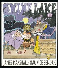 Swine Lake by James Marshall and Maurice Sendak, lst Ed, F/F DJ signed by Sendak