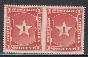 Liberia # 33 Mint Pair Imperf Between 1892 Waterlow & Sons
