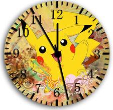 "Pokemon Pikachu wall Clock 10"" will be nice Gift and Room wall Decor W24"