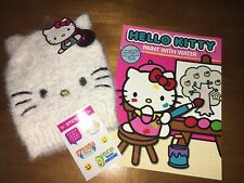 Hello Kitty Fuzzy Girls Winter Hat Nwt + Paint Book Justice Stickers Christmas