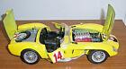 BURAGO FERRARI 250 TESTAROSSA 1957 MODEL - YELLOW - 1/18TH SCALE