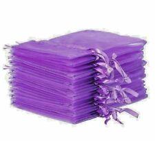 Lavender/ Cadbury Purple - Organza bags - Empty  9 x 12 cms  - Top Quality
