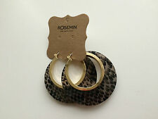 Rosemin Tiger Skin Hoop Earrings RRP$25 BNWT