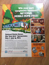1972 NMH National Mobile Home Easy Livin Sweepstakes Ad