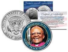 DESMOND TUTU * 1984 NOBEL PEACE PRIZE * Colorized JFK Half Dollar U.S. Coin