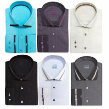 Long Sleeve Slim Striped Casual Shirts & Tops for Men