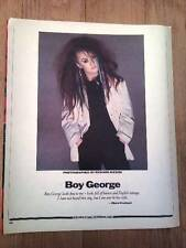 stunning BOY GEORGE magazine PHOTO / Clipping  12x9 inches