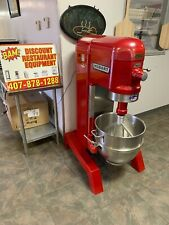 Red Hobart 60 Quart Mixer With Paddle Attachment And Ss Bowl 200v 1 Phase- 1.5Hp