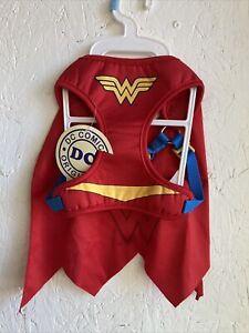 DC Comics Originals~Wonder Woman Dog Harness W/Cape~Small~NWT