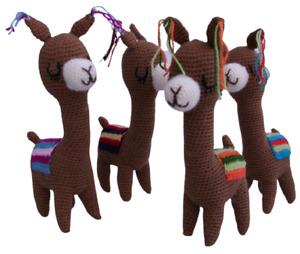 "Crochet Alpaca Soft Toy, Handknitted, Figure, Crocheted Handmade 100%Alpaca 9.5"""