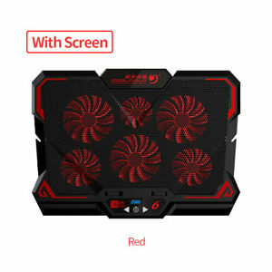 17inch Gaming Laptop Cooler Six Fan Led Screen Two USB Port 2600RPM Cooling Pad