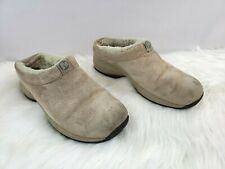 Merrell Women's Primo Chill Slide Natural Slip On Shoes Sz 8.5 Clogs Leather EUC