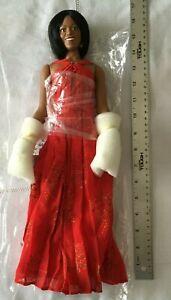 "Michelle Obama 16"" Danbury Mint Inaugural Ball Red Dress"